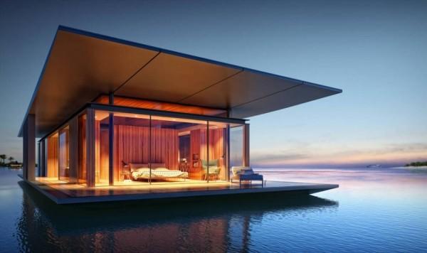 Une maison flottante