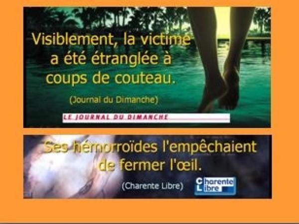Coquilles du Journal du Dimanche  et de la Charente Libre